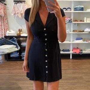 KNOT SISTERS Tracy black button down dress S  NWT